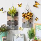 壁掛水培花瓶牆面壁飾掛件花藝田園家居牆上...