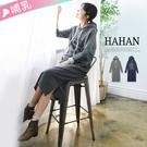 【HC4976】哺乳衣簡約英文連帽休閒洋裝