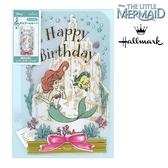 日本限定 迪士尼 × Hallmark 小美人魚 比目魚 愛麗兒 海底世界版 音樂生日卡片