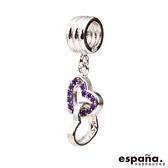 Espana伊潘娜 永結同心(紫) 925純銀串珠