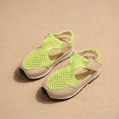 夏季新款男童運動網面涼鞋1-3-4-5-6歲半包頭男寶寶鞋女童鞋