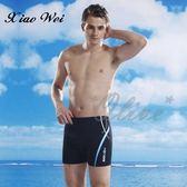 ☆小薇的店☆泳之美品牌【藍白流線側邊】大男四角泳褲特價250元NO.2703(M-2L)