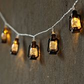 LED煤油燈復古馬燈懷舊咖啡廳布置裝飾彩燈閃燈串燈DIY手工制作燈wy【店慶滿月好康八折】