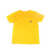 KANGOL 童裝 短袖T恤 黃色 口袋袋鼠LOGO/背後字母 6126500362 noG39