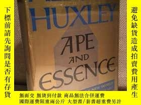 二手書博民逛書店Ape罕見and Essence(阿爾多斯·赫胥黎《猿與本質》,《美麗新世界》作者,布面精