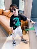 男童T恤 左西童裝男童T恤短袖夏裝純棉兒童體恤韓版潮中大童夏季2021新款 快速發貨