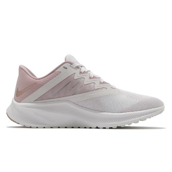 Nike 慢跑鞋 Wmns Quest 3 白 櫻花粉 粉紅 女鞋 路跑 運動鞋 【ACS】 CD0232-003