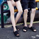 夏季情侶半拖鞋男女拖沙灘涼鞋時尚涼拖 BF478【旅行者】