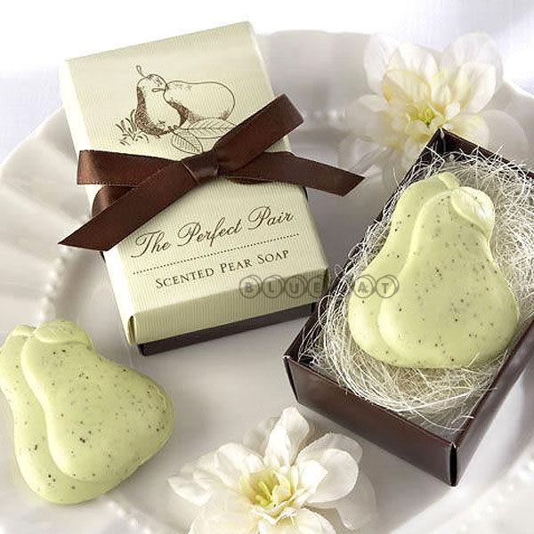 【BlueCat】婚禮小物 perfect pair永不分梨甜蜜綠水梨造型香皂禮盒