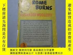 二手書博民逛書店While罕見Rome Burns(民國英文原版)【書口刷紅】Y