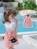愛上靚妞童裝女童連身裙寶寶2020洋氣新款春裝兒童裙子牛仔背帶裙 貝芙莉