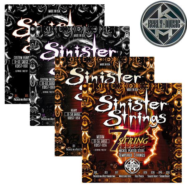 【小叮噹的店】全新 美國 Kerly Music  7弦 電吉他弦 Sinister系列 美製金屬回火弦