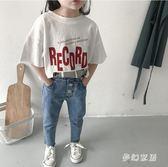 童裝短袖T恤2019夏裝新款打底兒童洋氣休閒寬鬆短袖上衣 QW3110『夢幻家居』