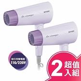 達新牌110/220V國際雙電壓摺疊吹風機 FD-176(超值二入組)