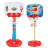 超級飛俠寶寶兒童籃球架可升降室內玩具男孩2-3-5歲家用投籃框4-6 深藏blue YYJ