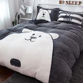 床上用品四件套 加厚保暖法蘭絨四件套珊瑚絨冬季1.8m床上用品雙面法萊絨被套床單