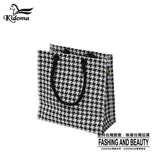 手提袋-編織袋(S)-黑白千鳥-03C