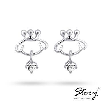 三麗鷗布丁狗-Purin Symbol布丁狗符號-純銀耳環