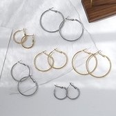 2件裝 耳環女大小圓圈耳圈氣質耳墜耳夾【聚寶屋】