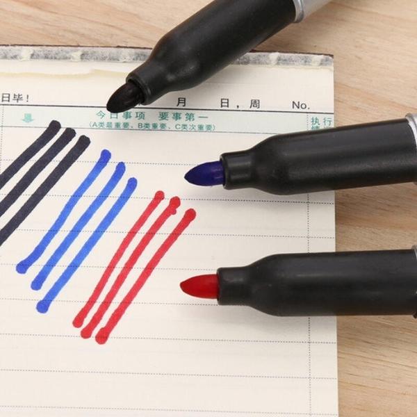 【DF233】油性記號筆-10支盒裝 奇異筆 簽名筆 簽字筆 快遞物流筆 EZGO商城