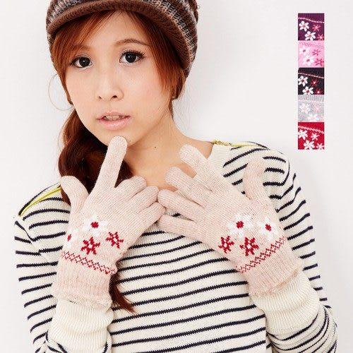 【MIT台灣製】雙層內裡羽毛紗針織手套保暖手套─毛口款