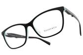 Tiffany&CO.光學眼鏡 TF2175F 8055 (黑-蒂芬尼藍) 波浪魅力款 眼鏡框# 金橘眼鏡