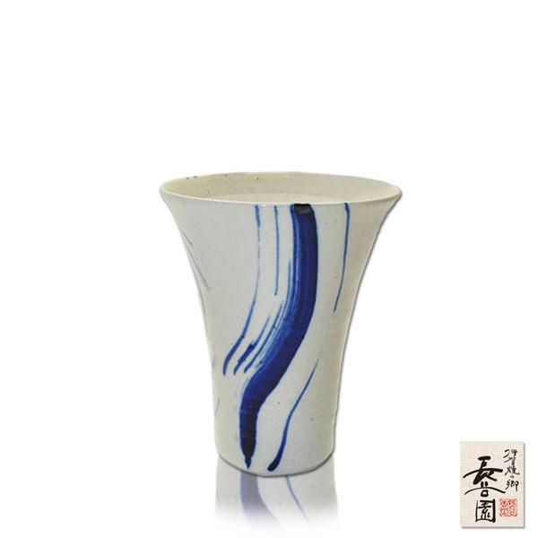 【日本長谷園伊賀燒】日式陶土杯(挑藍撥釉款)