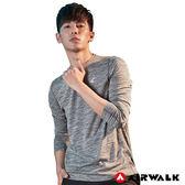 Airwalk Tee 男款吸排長T 麻灰 黑 時尚運動風 長袖上衣 健身 慢跑 訓練 A721106112