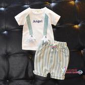 套裝 寶寶夏裝男1一3歲女小童洋氣套裝嬰兒童裝夏季小孩衣服帥氣韓版潮 2色