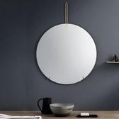 浴鏡 北歐壁掛式浴室鏡ins圓鏡輕奢衛生間梳妝化妝掛鏡洗手間裝飾鏡子 WJ 零度