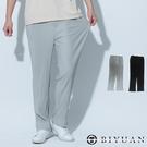 【OBIYUAN】休閒褲 高質感 韓系 鬆緊 坑條 素面 寬鬆 長褲 2色【WF1938】