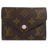 Louis Vuitton LV M62360 Victorine Monogram 經典花紋扣式錢短夾.粉  全新 預購