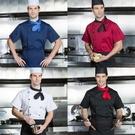 廚師服 廚師服男純棉透氣飯店西餐酒店烹飪學校廚師工作服長袖  快速出貨