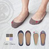 【 AMOUR 經典手工鞋 】毛巾底止滑隱形襪-灰咖米紫 / 淺口氣墊襪(4雙入)