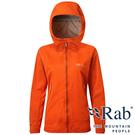 【RAB 英國】女 KINETIC 單件式軟殼防水外套『爆竹橘』QWF76 雨衣│釣魚外套│夾克│慢跑路跑外套
