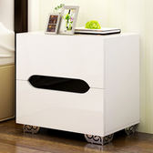 交換禮物-現代簡約迷妳臥室床頭櫃白色烤漆儲物櫃 床邊櫃收納櫃 鬥櫃wy