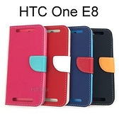 【Pauger】撞色側掀皮套 HTC One E8