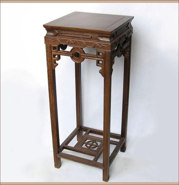 [超豐國際]紅木工藝品 雞翅木花架 實木雕刻家居擺件大號 木1入