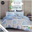 天絲棉 TENCEL【兩用被+薄床包組】5*6.2尺 御元居家『仲夏夜影』四件套天絲棉寢具