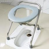 折疊坐便椅孕婦老人坐便器成人家用大便椅殘疾病人馬桶凳坐便神器