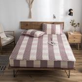 快速出貨 全棉防滑床笠單件加厚夾棉床罩純棉席夢思床墊保護套