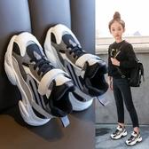 兒童高幫運動鞋女童鞋子2019年秋季新款時尚二棉鞋秋冬款加絨冬鞋  MKS免運