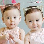 超萌貓咪耳朵針織造型兒童髮帶 髮飾