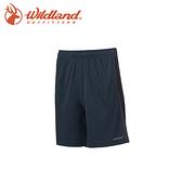 【Wildland 荒野 男 雙色透氣抗UV排汗短褲《深藍》】0A61630-72/快乾/吸濕排汗/抗UV/運動短褲
