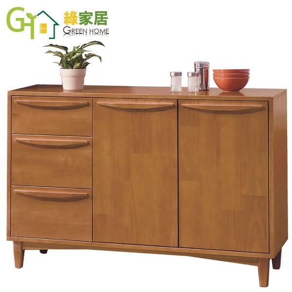【綠家居】薩亞 時尚4尺實木多功能收納櫃/餐櫃