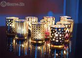 簡約 電鍍蠟燭杯 燭臺 工藝品擺飾 歐風蠟燭杯