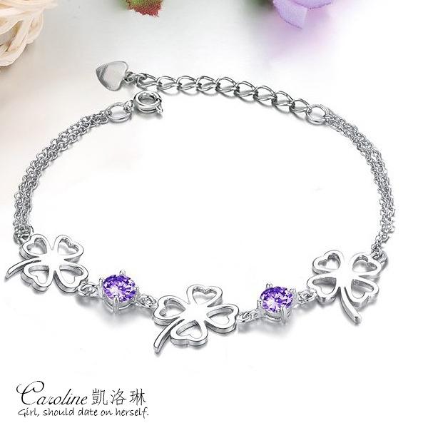 《Caroline》★【幸運草的愛情】典雅設計優雅時尚品味流行時尚手環66281