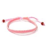 粉紅色平結幸運手環