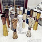 藤編鐵藝木質仿陶瓷花瓶客廳干花插花落地大花瓶家居裝飾花器擺件 居樂坊生活館