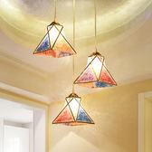 餐廳吊燈三頭簡約現代單頭餐桌燈時尚臥室燈過道客廳吧台LED吊燈
